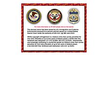 Domain seized by the US Department of Justice Photographic Print