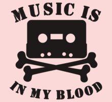 Music Is In My Blood Kids Tee