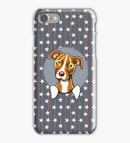 Stars & Stripes American Pit Bull Terrier iPhone Case/Skin