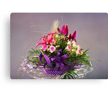 Colorful Floral Arrangement Canvas Print