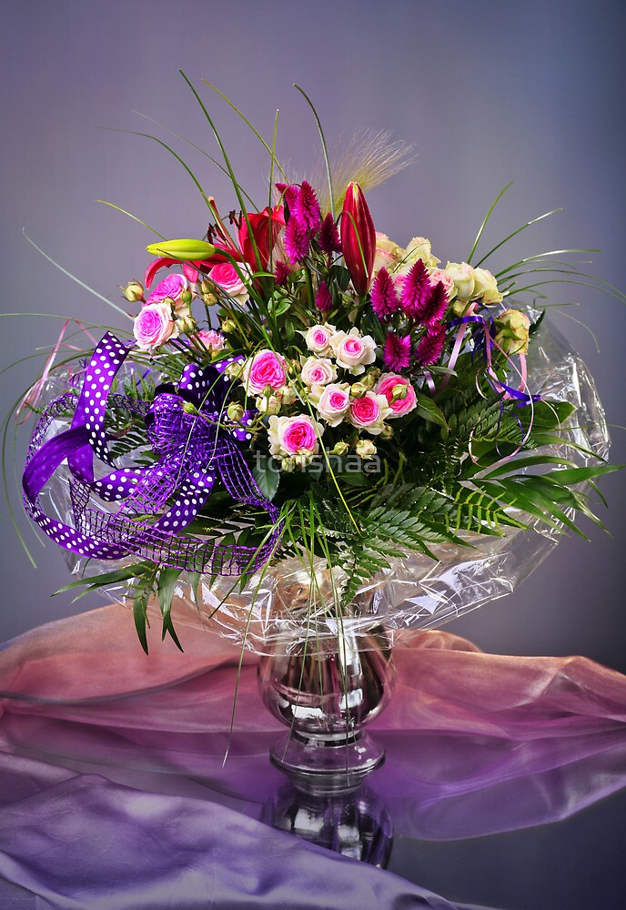 Colorful Floral Arrangement by torishaa