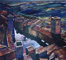 San Gimignano by wonder-webb