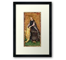 Medieval Lady and Lion Framed Print