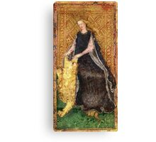 Medieval Lady and Lion Canvas Print