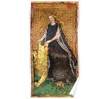Medieval Lady and Lion Poster