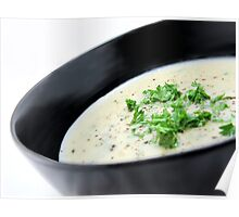 Cauliflower with Blue Vein Cheese soup Poster