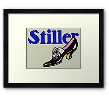 Retro vintage style ladies' shoes advertising Framed Print