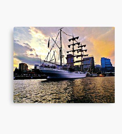Tall Ship Sunset Canvas Print