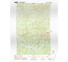 USGS Topo Map Washington State WA Glacier 241308 1989 24000 Poster