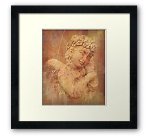 A Little Angel Wishes You Love, Peace and Joy Framed Print