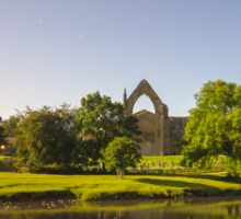 Bolton Abbey Nestled in the Yorkshire Dales on the banks of the River Wharfe 5603 Sticker