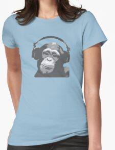 DJ MONKEY Womens Fitted T-Shirt