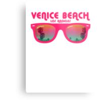 Venice Beach Sunglasses reflect Metal Print