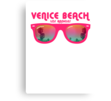 Venice Beach Sunglasses reflect Canvas Print