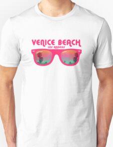 Venice Beach Sunglasses reflect Unisex T-Shirt