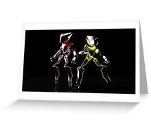 The Neon Robots: Faiz and Kaixa Greeting Card