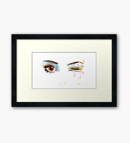 Eyes - 01 Framed Print