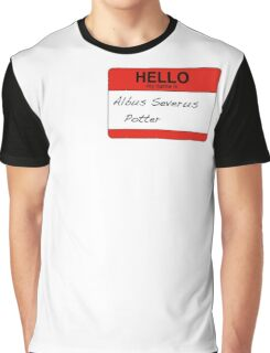 HELLO my name is...Albus Severus Potter! Graphic T-Shirt