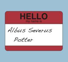 HELLO my name is...Albus Severus Potter! Baby Tee