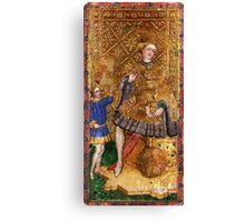 Medieval King painting Canvas Print