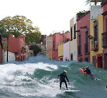 surfing quebrada by ezdrifter