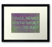 An Honest Conclusion Framed Print