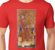Medieval King on throne painting Unisex T-Shirt