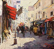 Sunny Monmartre by Oleg Trofimoff