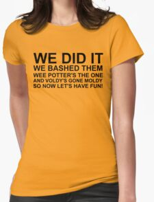 Peeve's Song- A Harry Potter Victory Womens Fitted T-Shirt