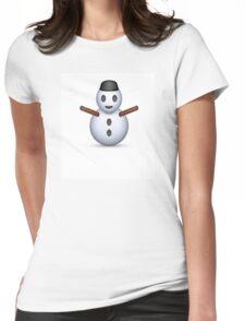 Snowman Emoji - CHRISTMAS Womens Fitted T-Shirt