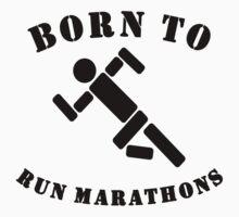 Born To Run Marathons Baby Tee