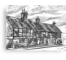 Cottages, English Civil War Period Canvas Print