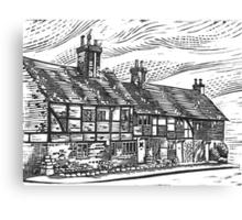 Cottages, English Civil War Period Canvas Print