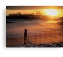 Snowy Hendre Lake Sunrise Canvas Print
