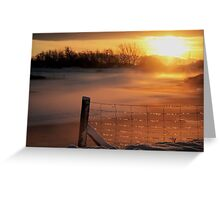 Snowy Hendre Lake Sunrise Greeting Card