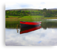 Lough Fern Fishing Boat Metal Print