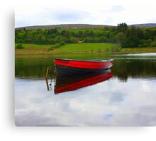 Lough Fern Fishing Boat Canvas Print