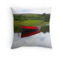 Lough Fern Fishing Boat Throw Pillow