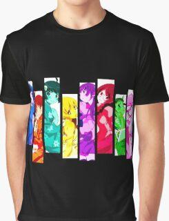 Female Chars from Monogatari Series Graphic T-Shirt