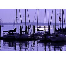Purple Connecticut Sunrise Photographic Print