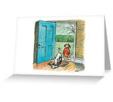 Wet Boy Greeting Card