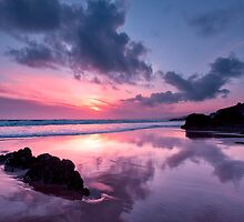 Reflections on Whitsand Bay by Andy Fox