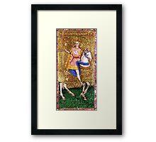 Medieval Gent on horse Framed Print