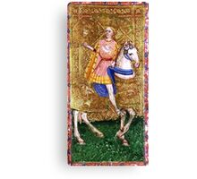 Medieval Gent on horse Canvas Print