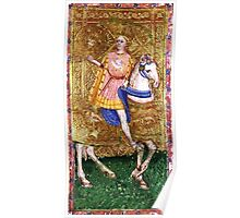 Medieval Gent on horse Poster