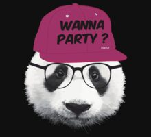 Panda - Wanna Party Cap by WAMTEES