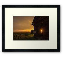Sunset on the Homestead. Framed Print