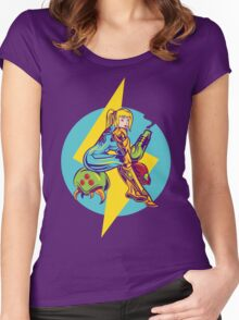 Femme Fatale Hunter  Women's Fitted Scoop T-Shirt