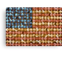 Baseball Flag - America's Past time Canvas Print