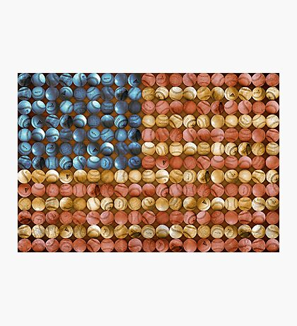 Baseball Flag - America's Past time Photographic Print